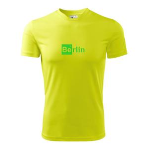Berlin nápis - chemický prvok - Detské tričko fantasy športové tričko