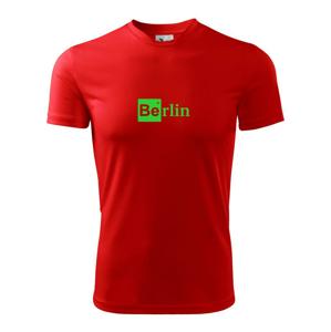 Berlin nápis - chemický prvok - Pánske tričko Fantasy športové