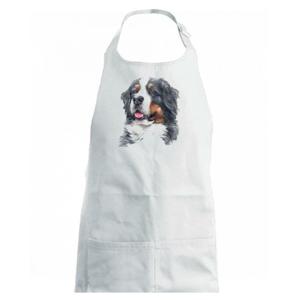 Bernský salašnícky pes -  hlava vodová farba - Zástěra na vaření