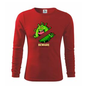 Beware of corona virus - Tričko s dlhým rukávom FIT-T long sleeve