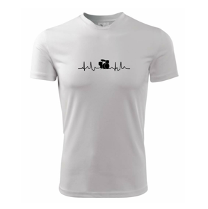 Bicie EKG - Pánske tričko Fantasy športové