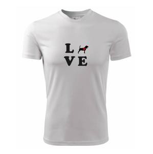 Bígl love - Pánske tričko Fantasy športové