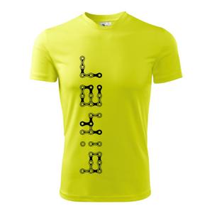 Biker nápis na výšku reťaz - Pánske tričko Fantasy športové