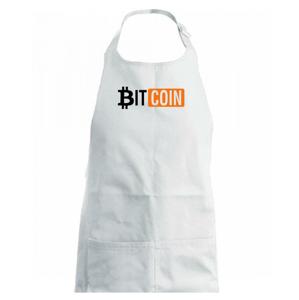 Bitcoin nápis - Detská zástera na varenie