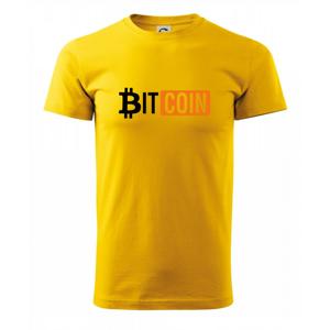 Bitcoin nápis - Heavy new - tričko pánske