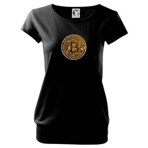 Bitcoin zlatá minca guľatá - Voľné tričko city