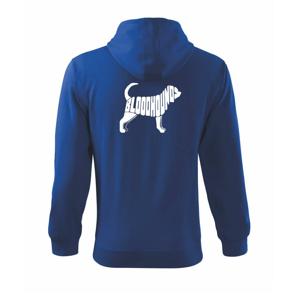 Bloodhound nápis v tele - Mikina s kapucňou na zips trendy zipper