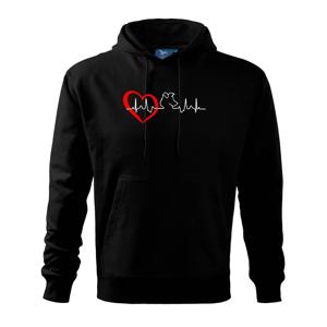 Borderská kólia EKG - Mikina s kapucňou hooded sweater