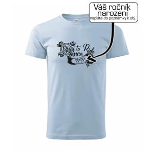Born to ride - Vlastný ročník - Heavy new - tričko pánske