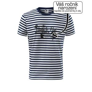 Born to ride - Vlastný ročník - Unisex tričko na vodu