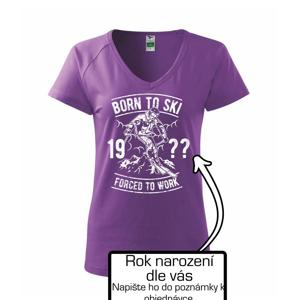 Born To Ski (vlastný ročník) - Tričko dámske Dream
