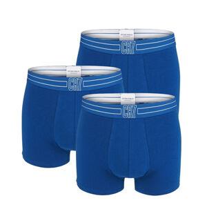 CRISTIANO RONALDO CR7 - 3PACK modré boxerky s logom CR7 z organickej bavlny-M (81-86 cm)