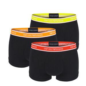 EMPORIO ARMANI - 3PACK cotton stretch nero colore boxerky - limited edition-M (81-85 cm)