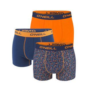 O'NEILL - 3PACK orange logo print boxerky z organickej bavlny-M (82-88 cm)