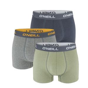 O'NEILL - 3PACK gray & army green boxerky z organickej bavlny-L (89 - 95 cm)