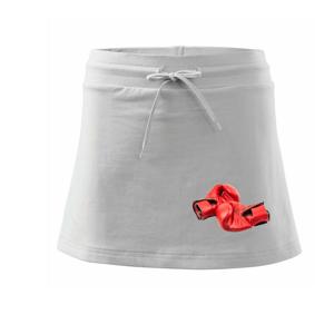Boxerske rukavice červené - Športová sukne - two in one