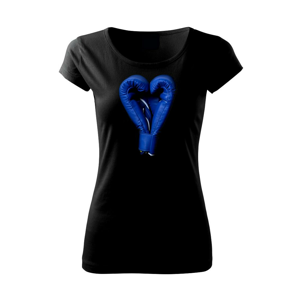 Boxerske rukavice modré  - Pure dámske tričko