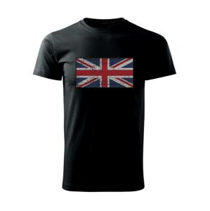 Britská vlajka bodkovaná - Tričko Basic Extra veľké