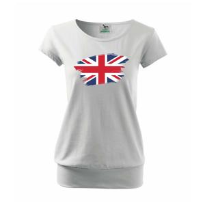 Britská vlajka roztrhaná - Voľné tričko city