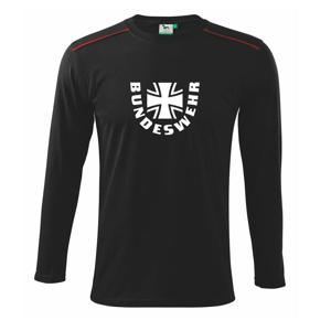 Bundeswehr kríž + nápis - Tričko s dlhým rukávom Long Sleeve