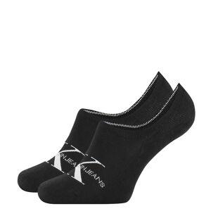 CALVIN KLEIN - CK jeans logo neviditeľné ponožky čierne-UNI