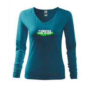Capoeira nápis - zelený - Tričko dámske Elegance