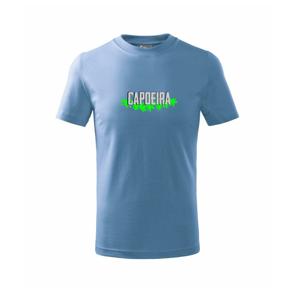 Capoeira nápis - zelený - Tričko detské basic
