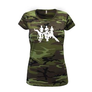 Capoeira všetci - Dámske maskáčové tričko