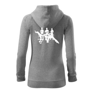 Capoeira všetci - Mikina dámska trendy zipper s kapucňou