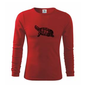 Ceruzkou kreslená korytnačka - Tričko detské Long Sleeve