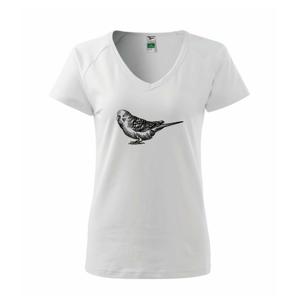 Ceruzkou kreslený Papagáj - Tričko dámske Dream