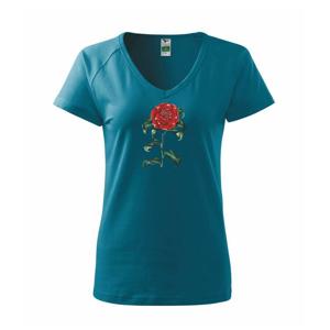 Červená kamélia  - Tričko dámske Dream