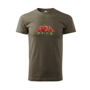 Červená ruža - Tričko Basic Extra veľké