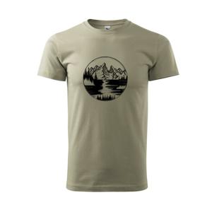 Cestovanie kruh - rieka - Tričko Basic Extra veľké