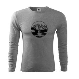 Cestovanie kruh - rieka - Tričko s dlhým rukávom FIT-T long sleeve