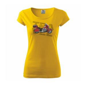 Cestovná motorka Amerika červená - Pure dámske tričko