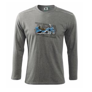 Cestovná motorka Amerika modrá - Tričko s dlhým rukávom Long Sleeve