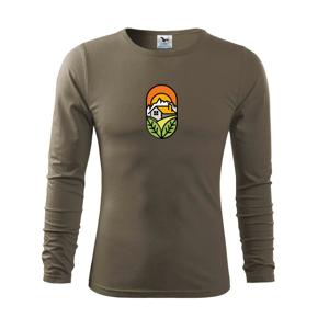 Chalupa pri západe slnka - Tričko s dlhým rukávom FIT-T long sleeve
