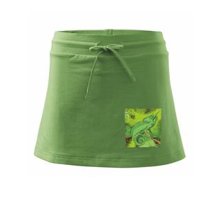 Chameleon na vetve - Športová sukne - two in one