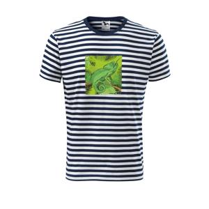Chameleon na vetve - Unisex tričko na vodu