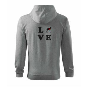 Chrt love - Mikina s kapucňou na zips trendy zipper