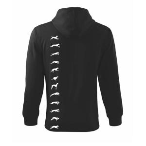 Chrt na výšku - Mikina s kapucňou na zips trendy zipper