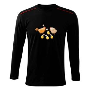 Chytré kura (Hana-creative) - Tričko s dlhým rukávom Long Sleeve