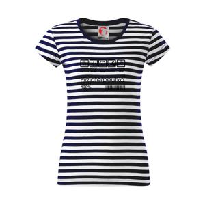 Čiarový kód fyzioterpeutka  - Sailor dámske tričko