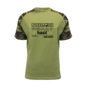 Čiarový kód - Hasič / hasička - Raglan Military
