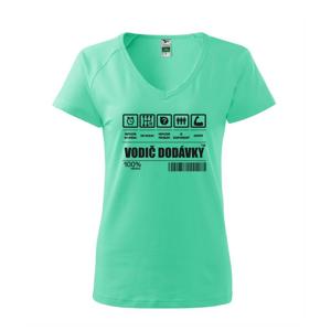Čiarový kód - Vodič dodávky - Tričko dámske Dream