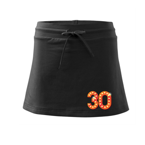Čísla žiarovky 30 - Športová sukne - two in one
