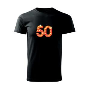 Čísla žiarovky 50 - Heavy new - tričko pánske