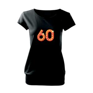 Čísla žiarovky 60 - Voľné tričko city