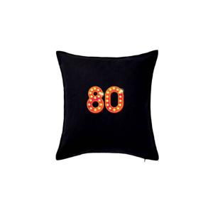 Čísla žiarovky 80 - Vankúš 50x50